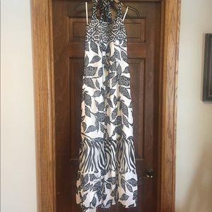 WHBM Halter Maxi Dress